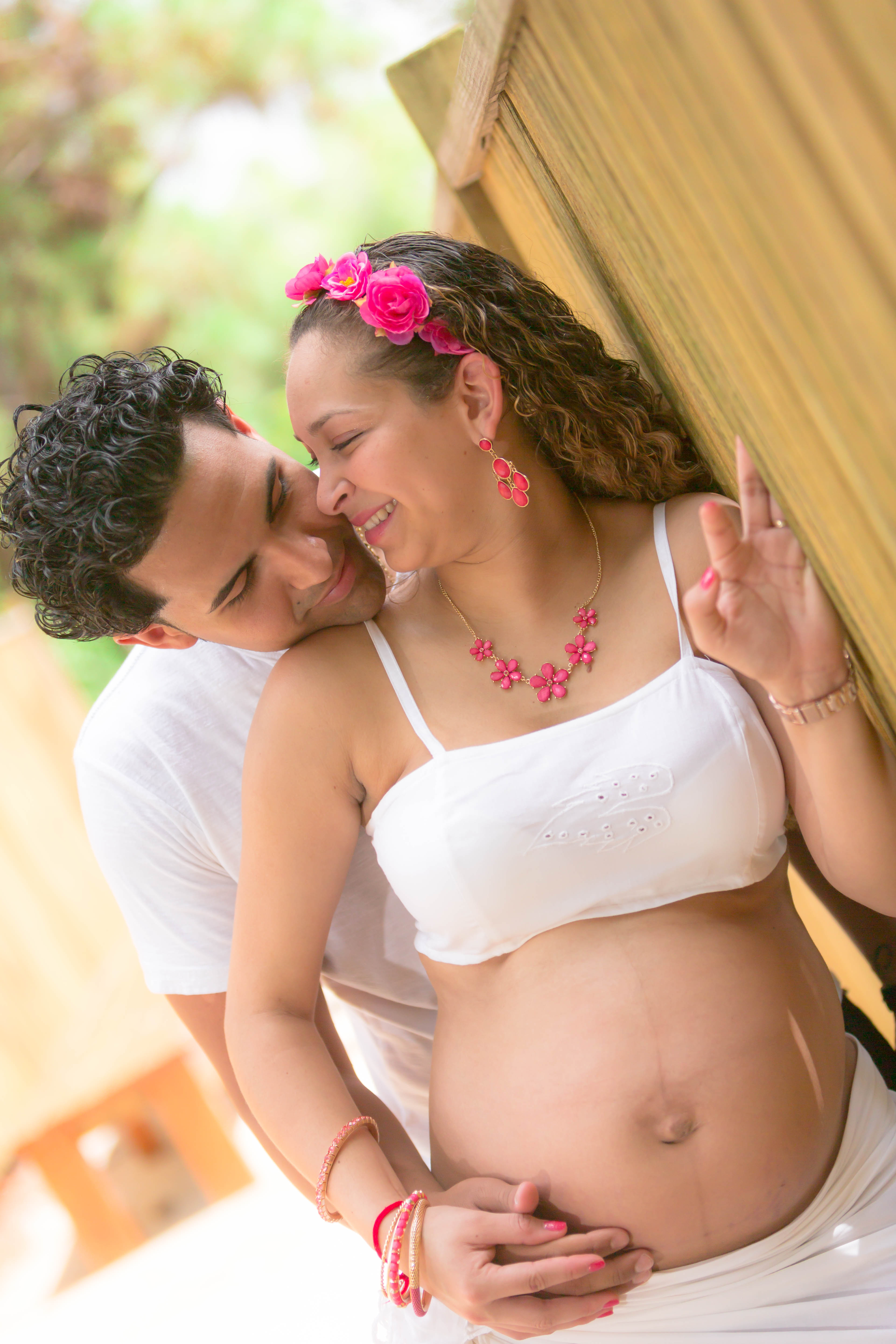 Alfredo Valentine Couture Bridal Photography Maternity Session at Morikami Japanese Gardens in Delray Beach, Florida