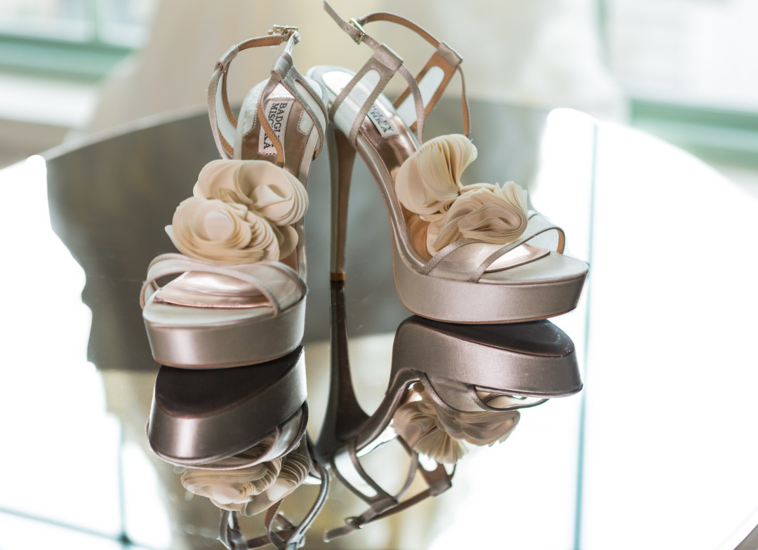 Brides shoes for Westin Colonnade Coral Gables Wedding by Alfredo Valentine Couture Bridal Photography