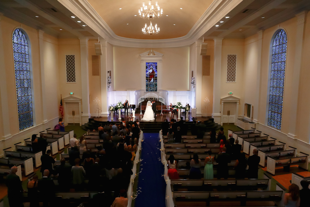 Church ceremony prior to Westin Colonnade Coral Gables Wedding by Alfredo Valentine Couture Bridal Photography