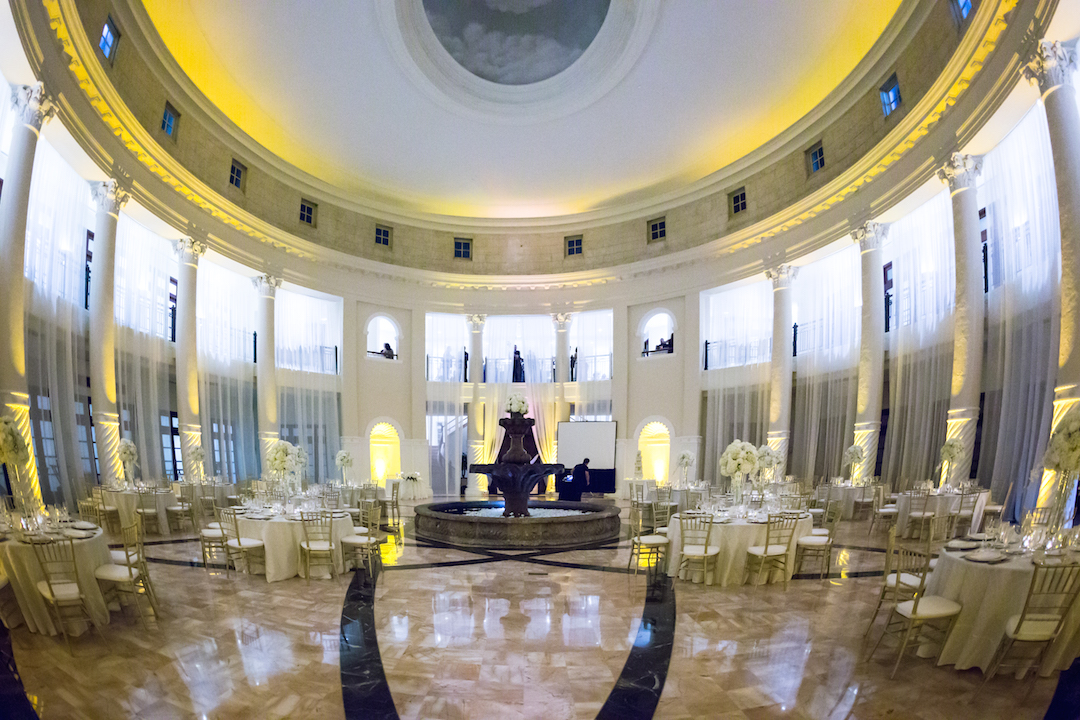 Westin Colonnade Coral Gables Wedding Reception hall in Westin Colonnades by Alfredo Valentine Couture Bridal Photography
